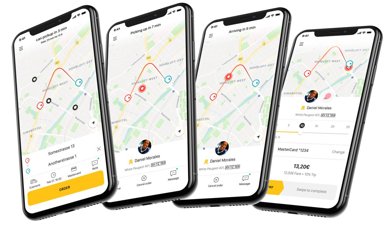 cbb70d57a6b629 Taxi App - in über 650 Städten kostenlos und einfach Taxis bestellen